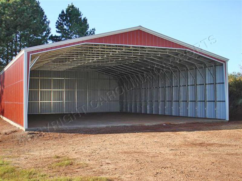 Metal storage sheds with carport carolina carports for Metal storage sheds for sale